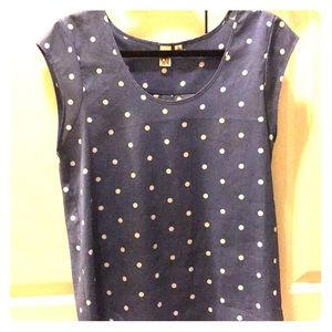Cap sleeve polka dot blouse - S